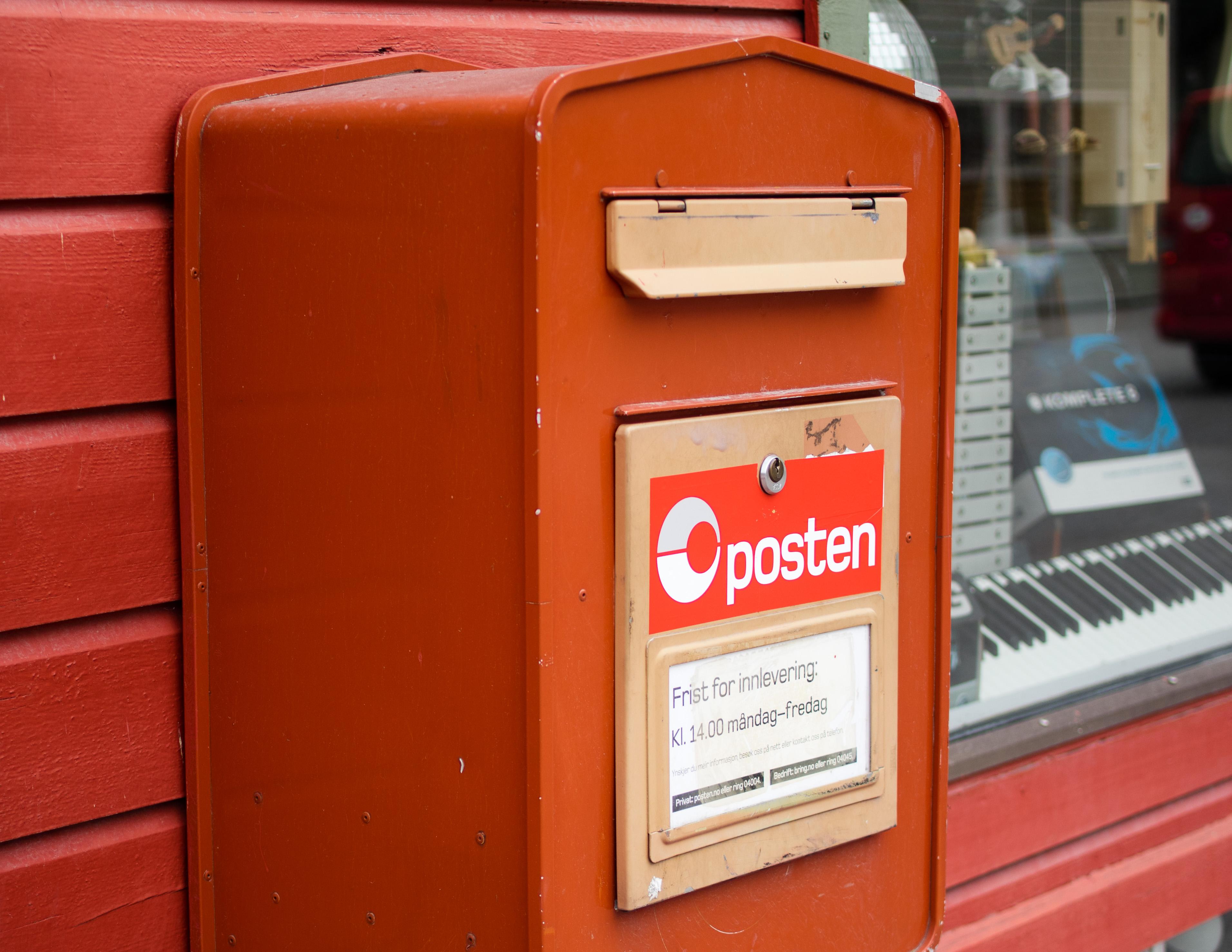 den røde postkasse