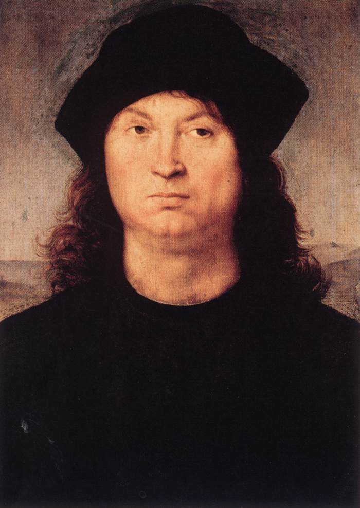 Portrait Ofa Girl 14 Years In Nature Stock Image: Portrait Of A Man (Raphael)