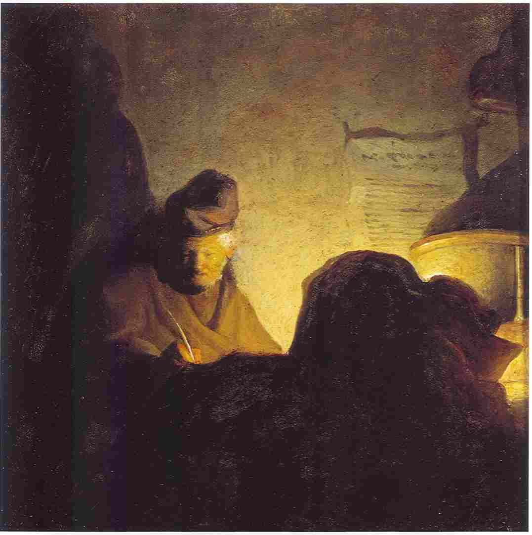 File:Rembrandt   Bredius 425   Man Writing By Candlelight   C.1629 Bader