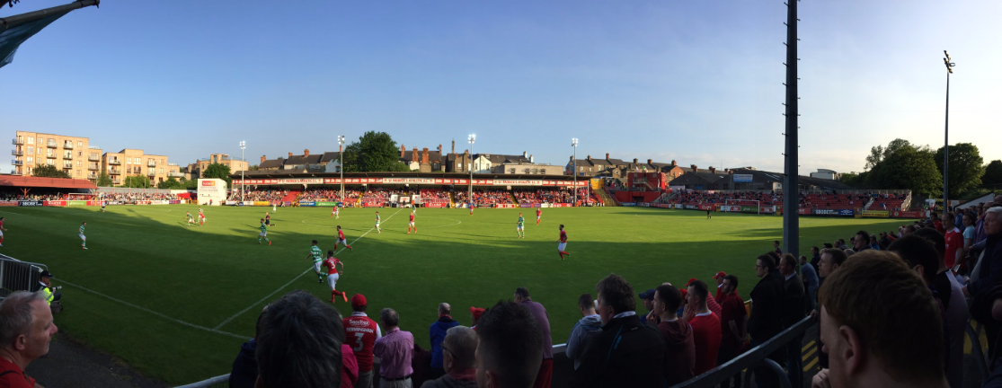 Richmond Park during St Patrick's Athletic vs Shamrock Rovers, 3 June 2016.