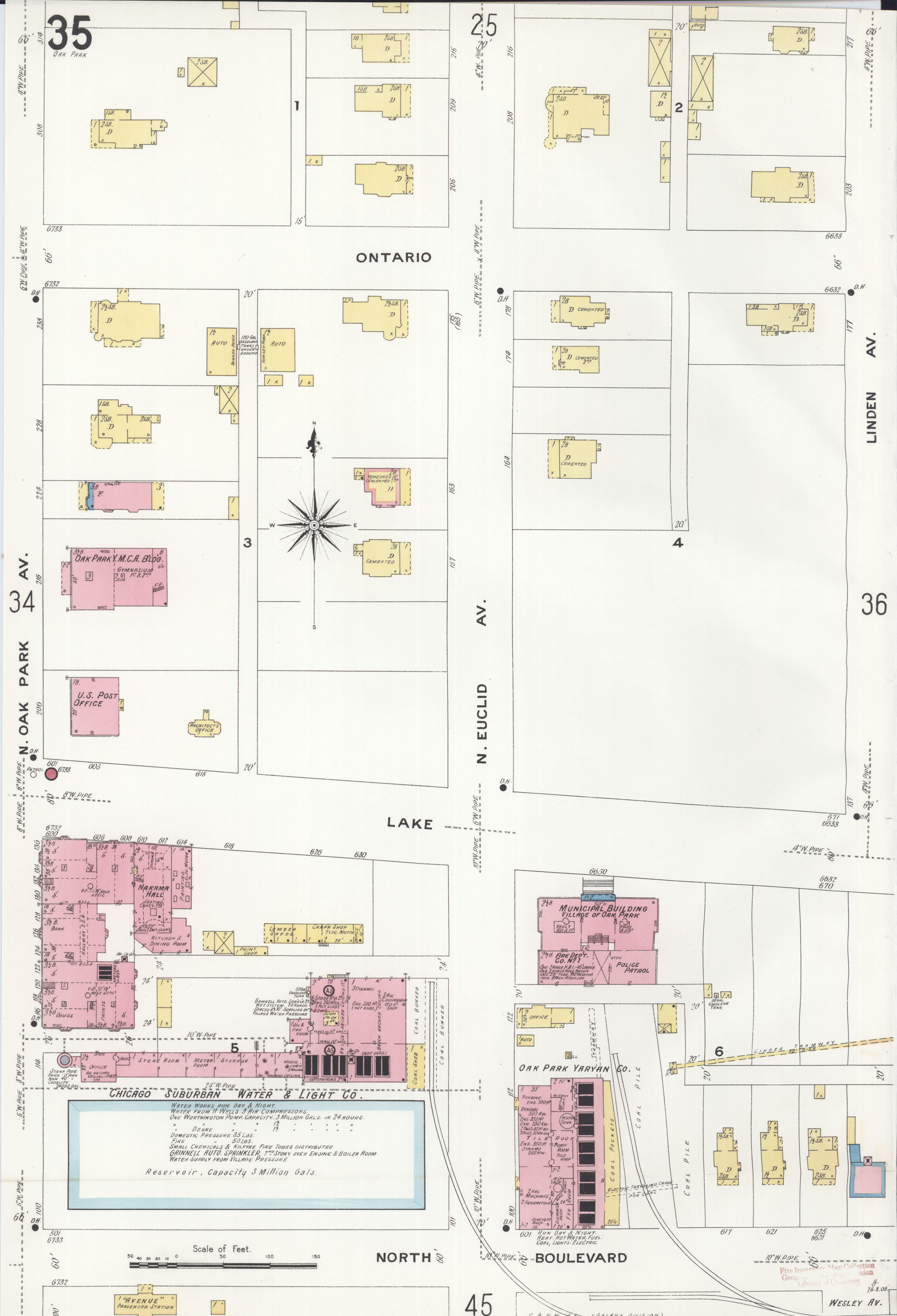 Oak Park Chicago Map.File Sanborn Fire Insurance Map From Oak Park Cook County Illinois