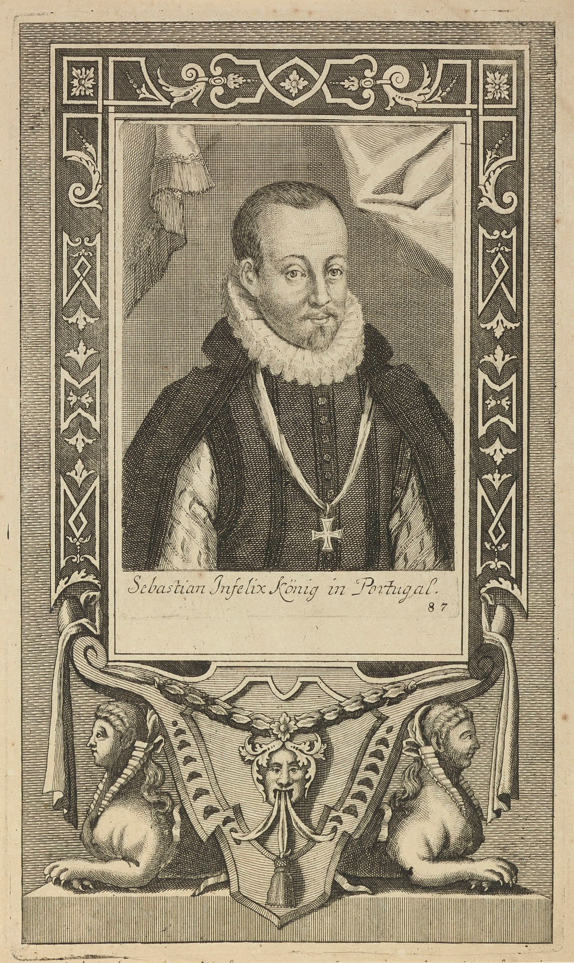 An image of Sebastian I of Portugal, an example of the 'King in the Mountain' trope.
