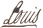 Signature of Louis XV in 1753 at the wedding of the Prince of Condé and Charlotte de Rohan.png