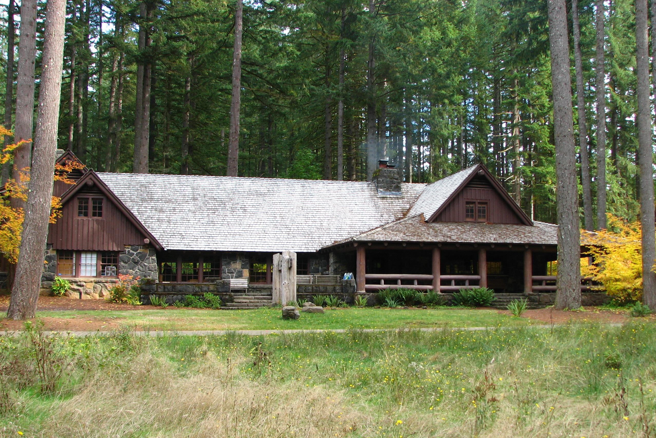 File Silver Falls Lodge West Elevation Oregon Jpg