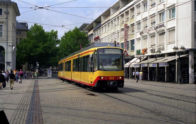 File:Stadtbahn car on Kaiserstrasse - geo.hlipp.de - 4610.jpg