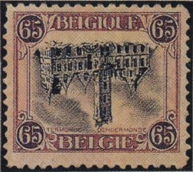 World Stamp Pictures - Belgium Inverted Dendermonde Stamp