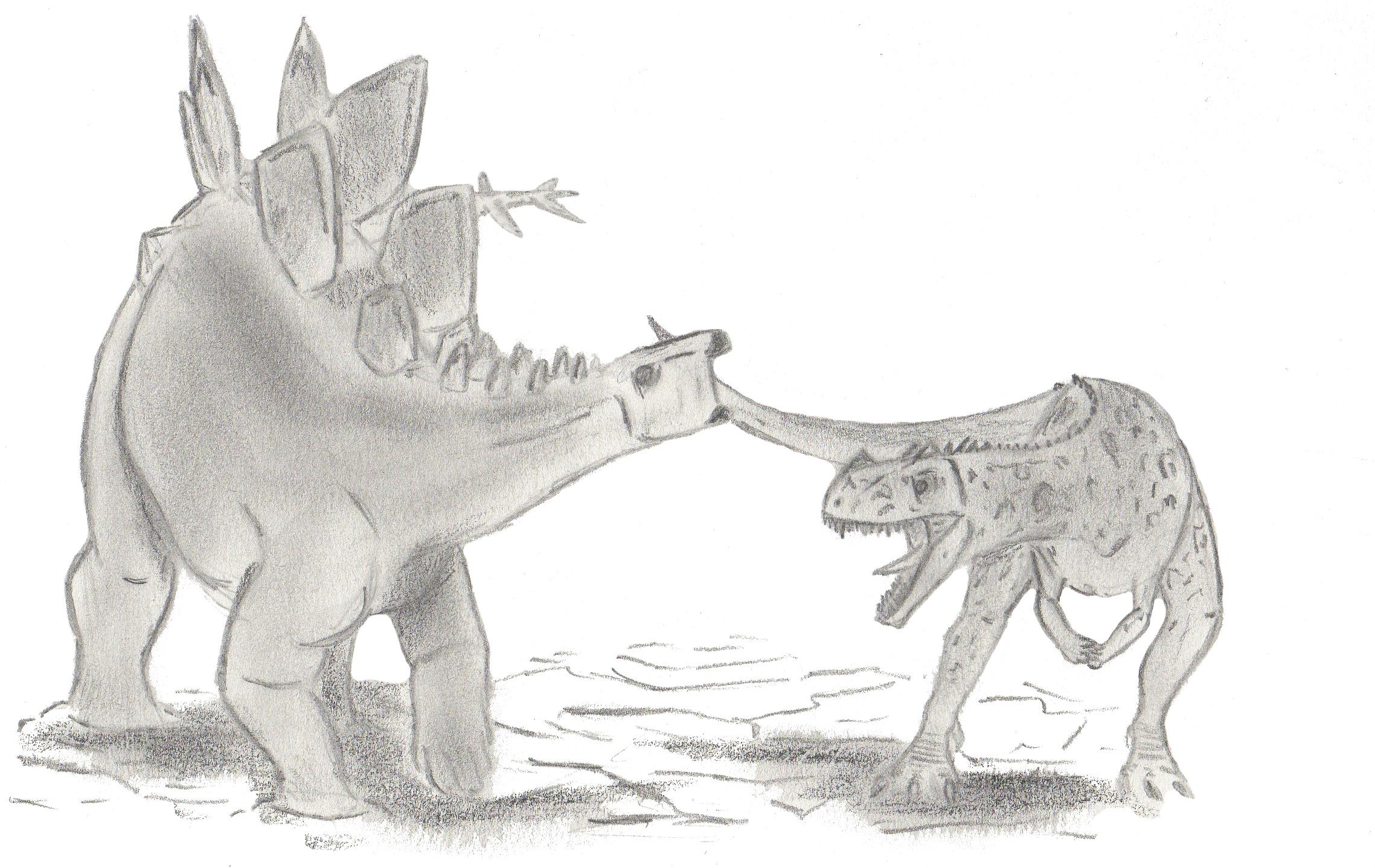 Archivo:Stegosaurus et Ceratosaurus.jpg - Wikipedia, la enciclopedia ...