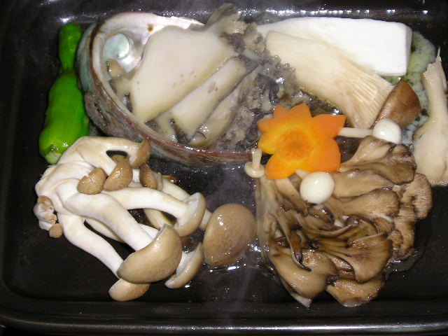 from http://commons.wikimedia.org/wiki/File:Takanoyu_Onsen_cooked_wild_mushrooms.jpg