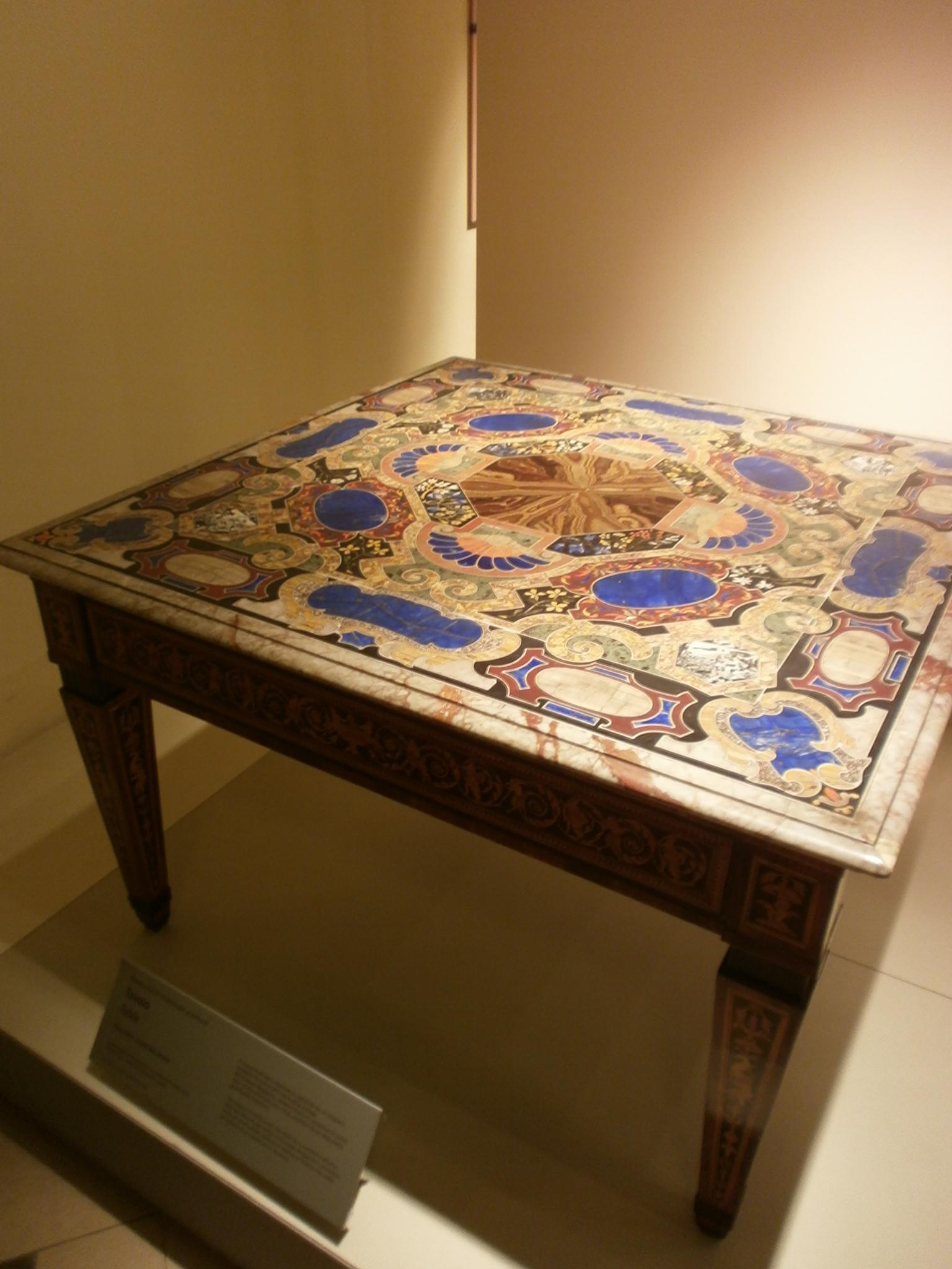 File:Tavolo (table) - fine XVIII inizio XIX secolo - botteghe ...