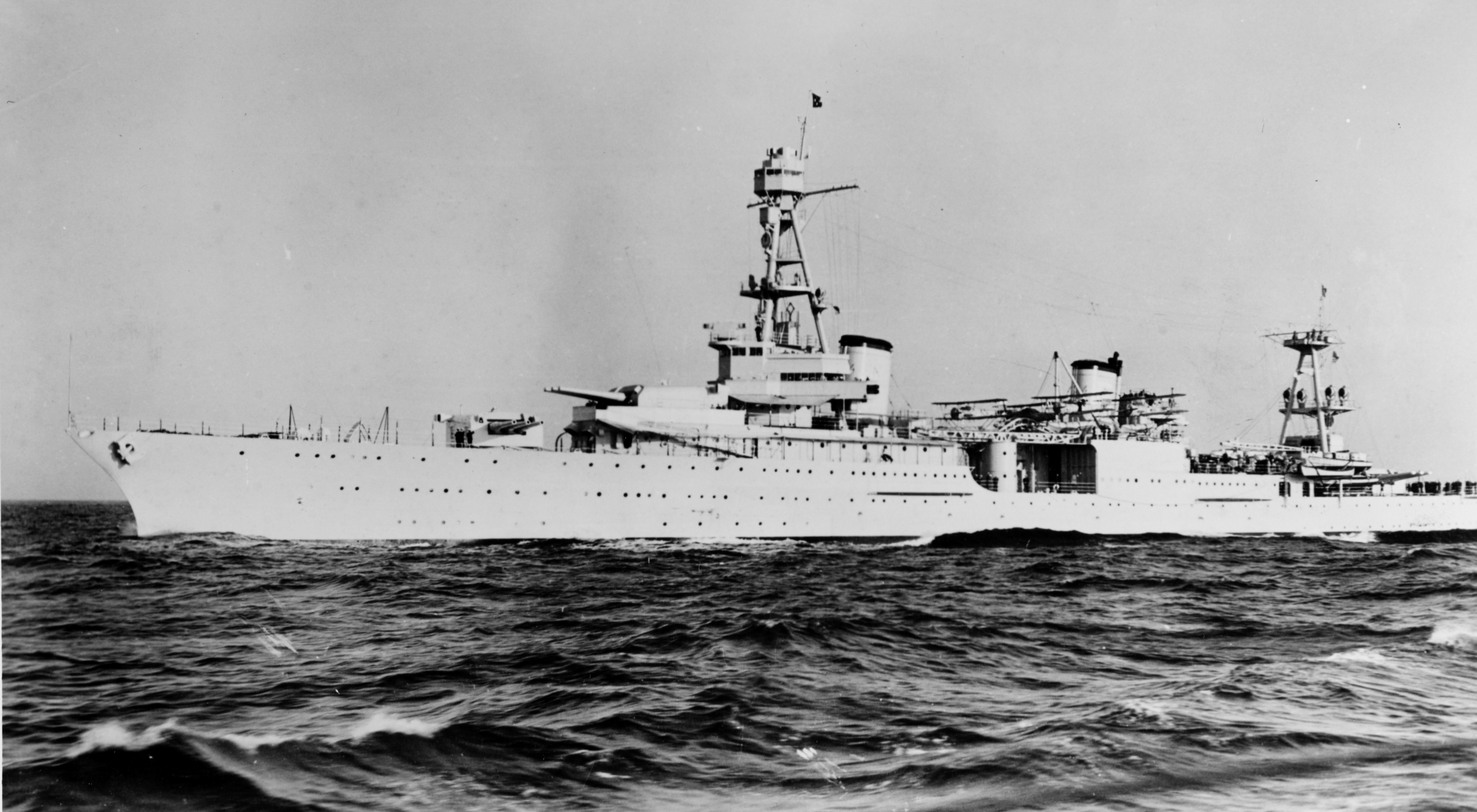 The USS Houston in the 1930s. (Photo from Wikimedia Commons)