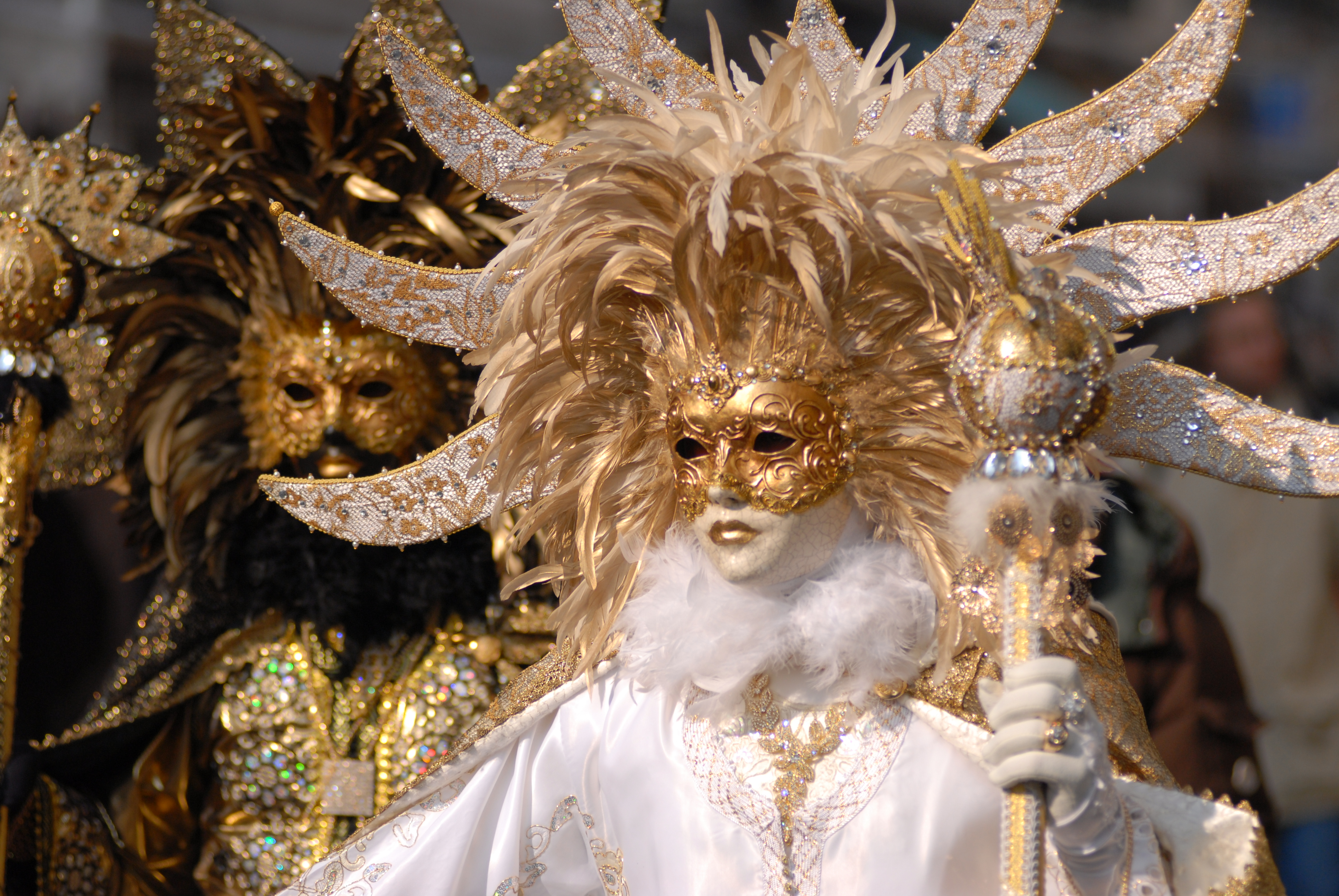 Masked ball participant at Venice Carnival 2010