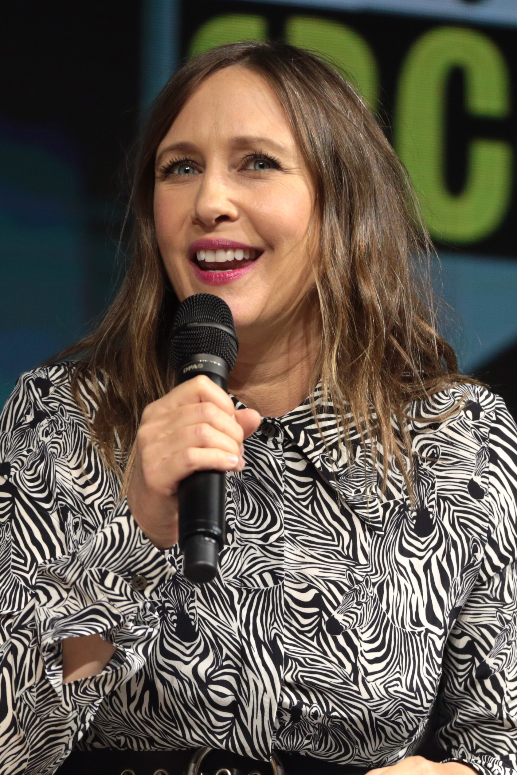 Farmiga at the 2018 [[San Diego Comic-Con]]
