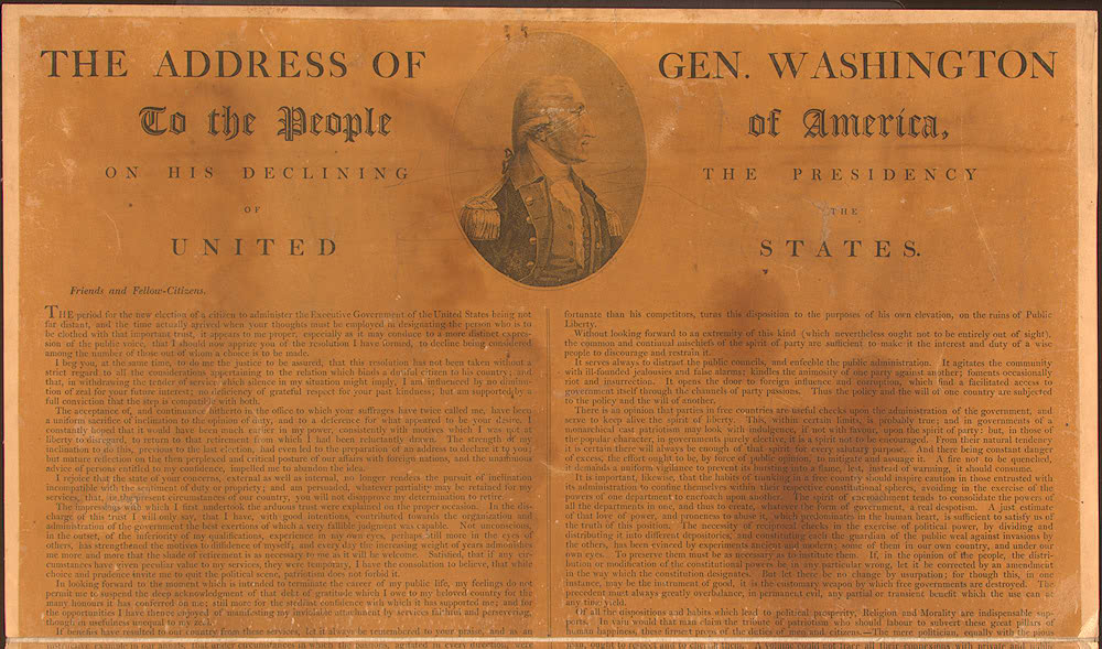 govt200 washington's farewell address analysis A free, easy-to-understand summary of washington's farewell address that  covers all of the key plot points in the document.