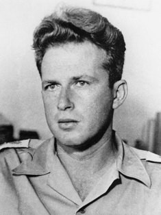 Yitzhak Rabin, commander of the Harel Brigade, c. 1948