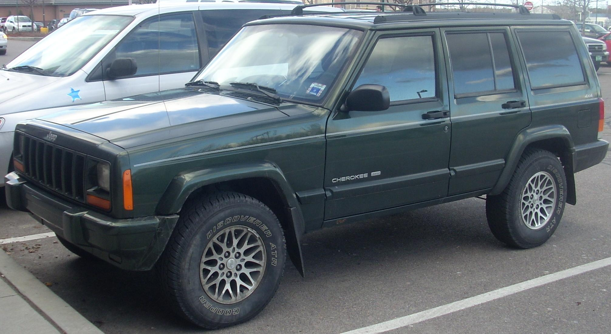 Jeep Cherokee Off Road >> File:'97-'99 Jeep Cherokee 4-Door.jpg - Wikimedia Commons