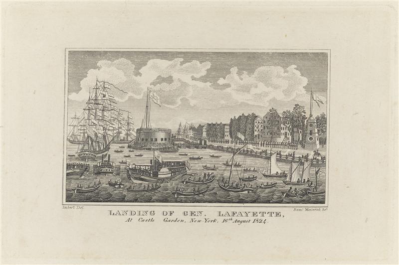 File:'Landing of Gen. Lafayette at Castle Garden, New York, 16th August 1824' by Samuel Maverick and Anthony Imbert.jpg