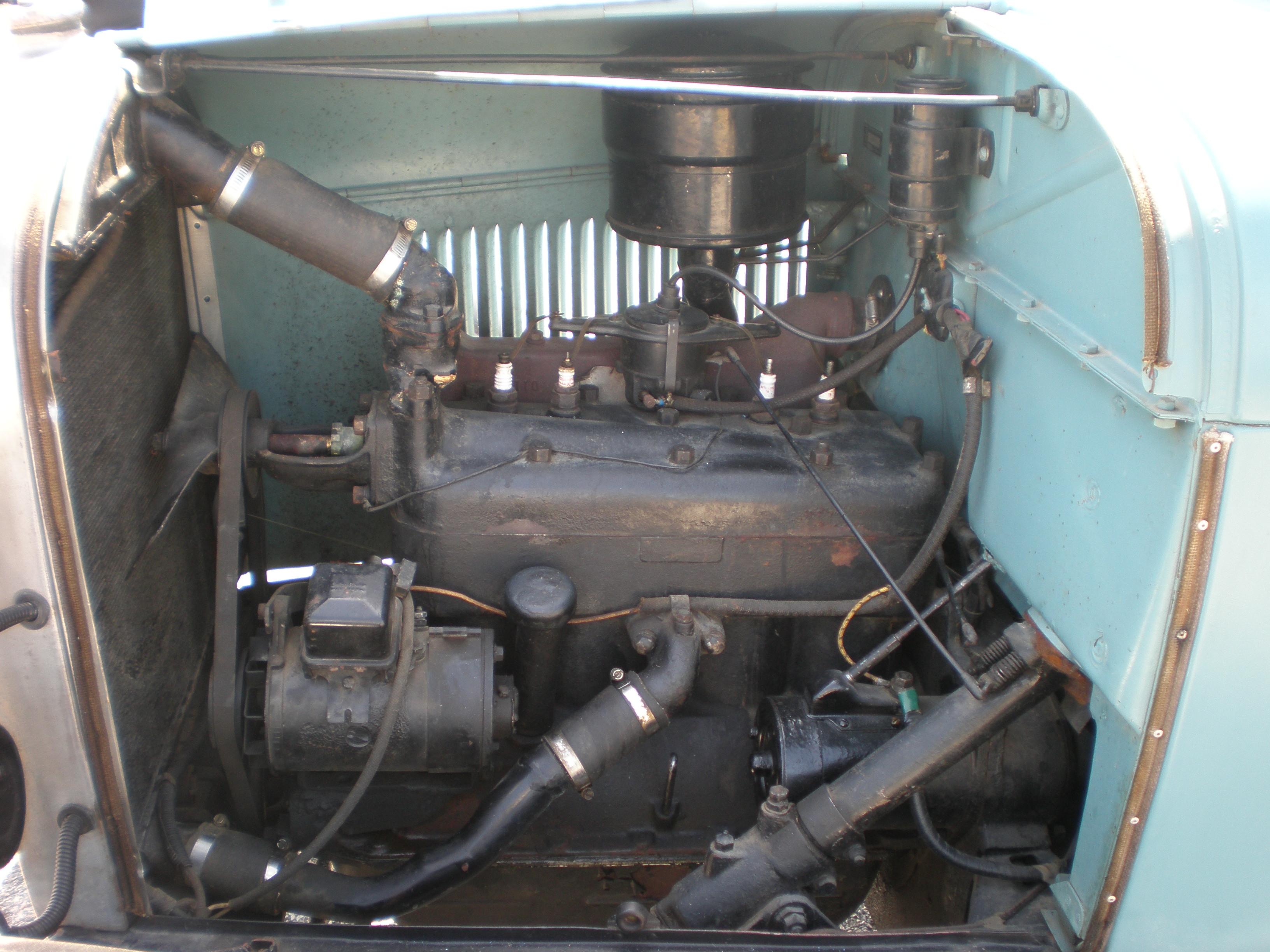 File 1928 Blue Ford Model A Tudor Sedan Engine Jpg