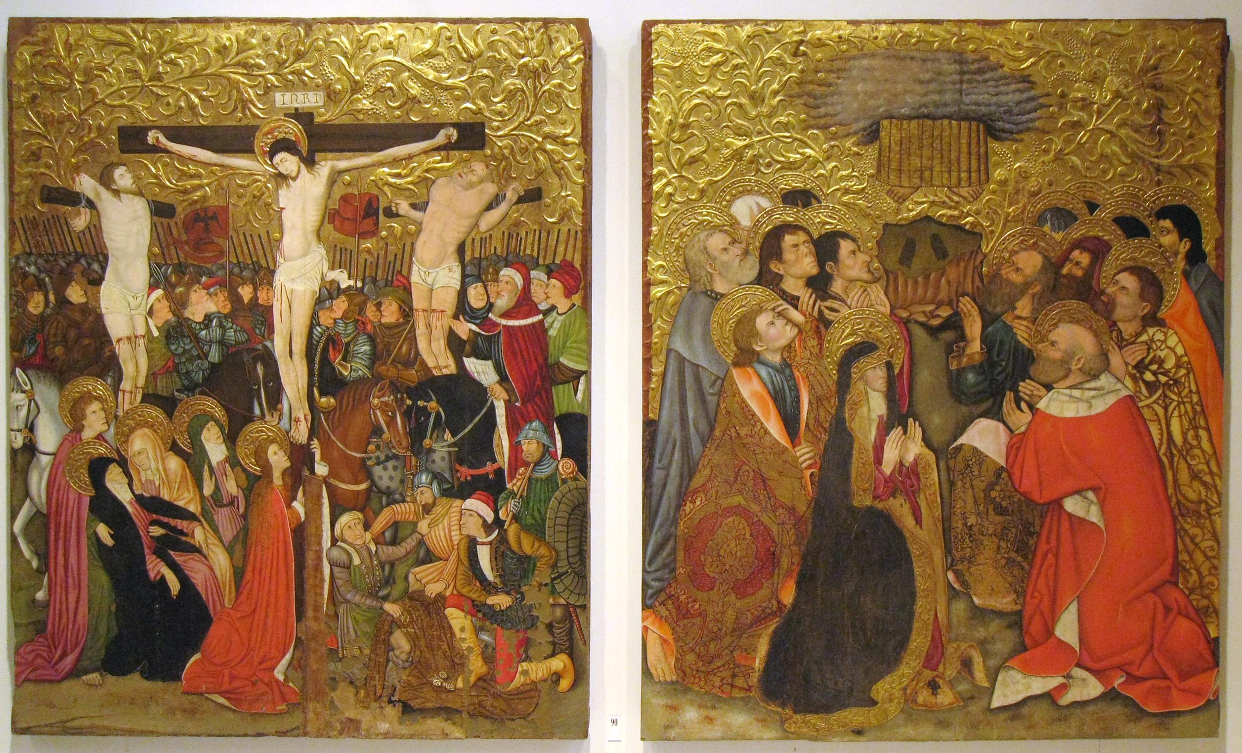 File:240 Museu Diocesà, capella del Corpus Christi, plafons del retaule d...