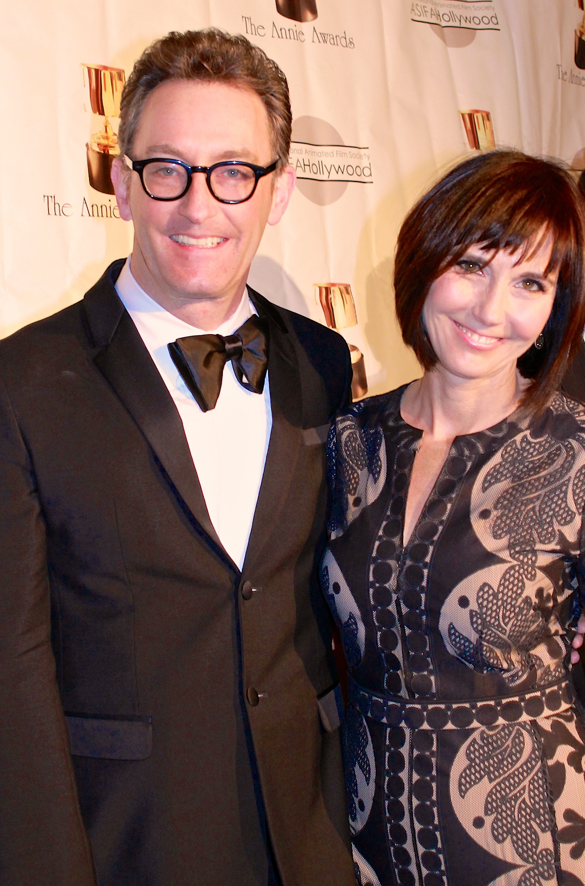Tom Kenny med søt, Kone Jill Talley