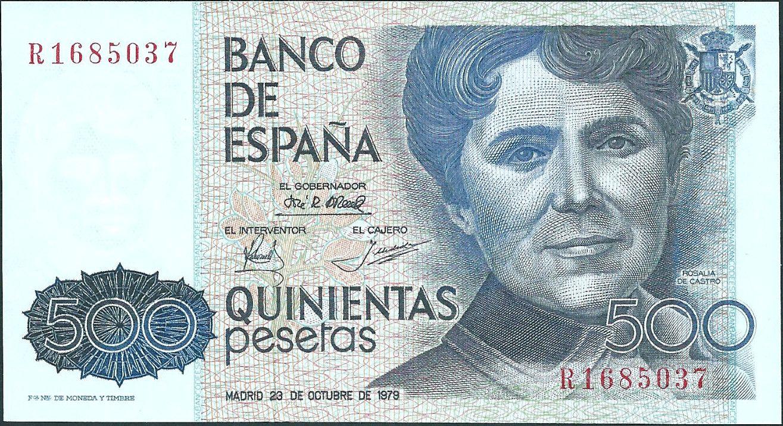 Resultado de imagen de billetes españoles pesetas