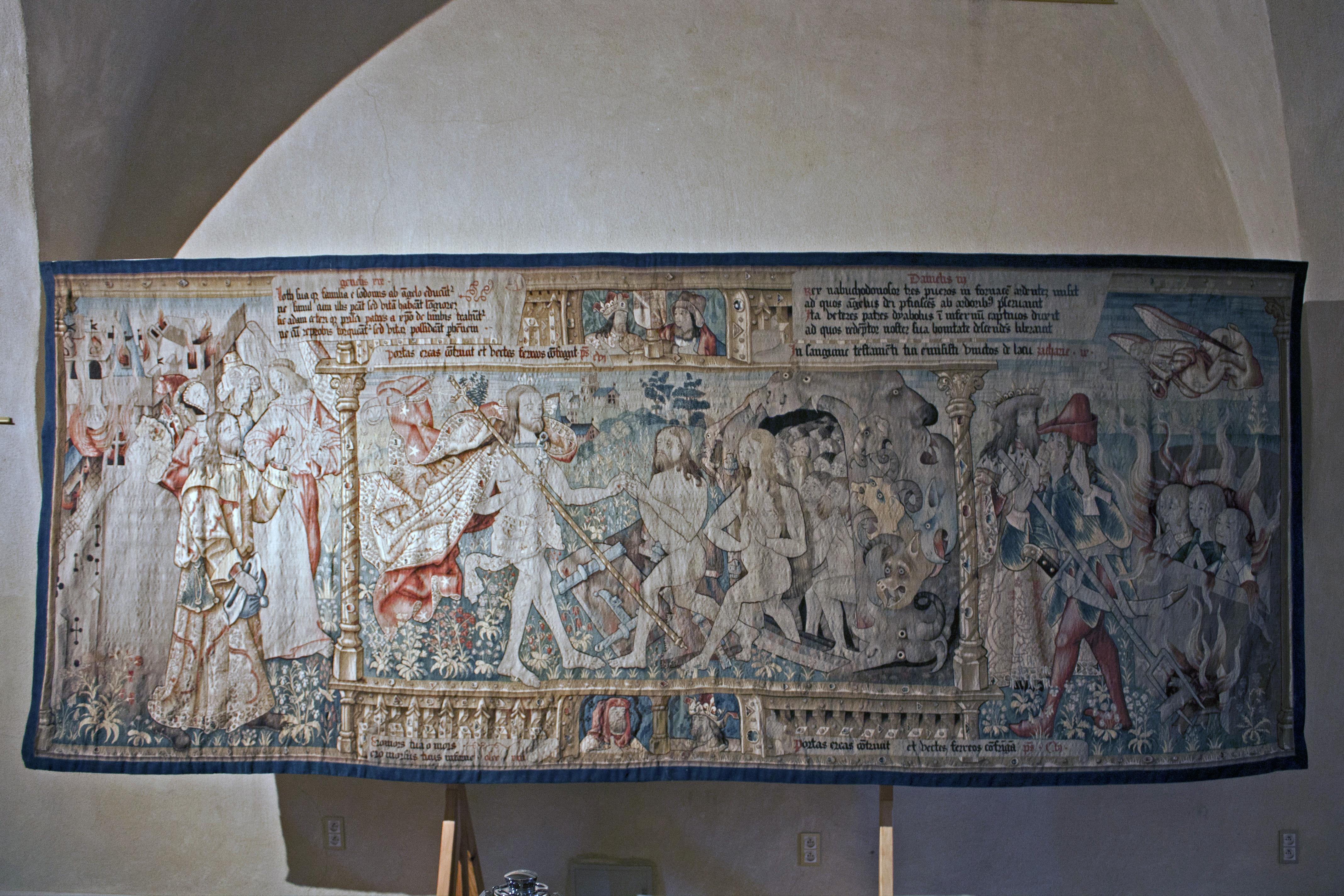 file abbaye robert de la chaise dieu tapisserie de la descente aux enfers 201121007 jpg
