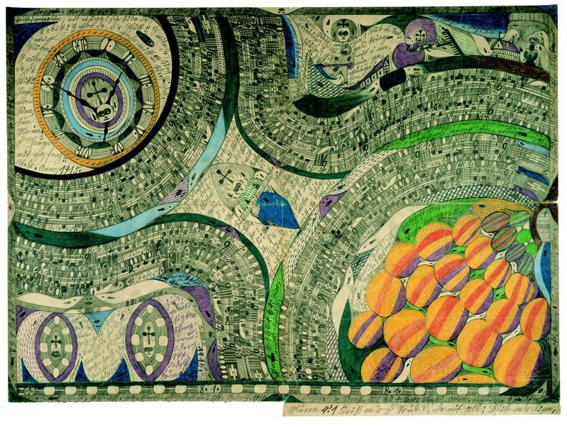 Zeichnung, Adolf Wölfli, Art Brut, Schizophrenie, Outsider Art