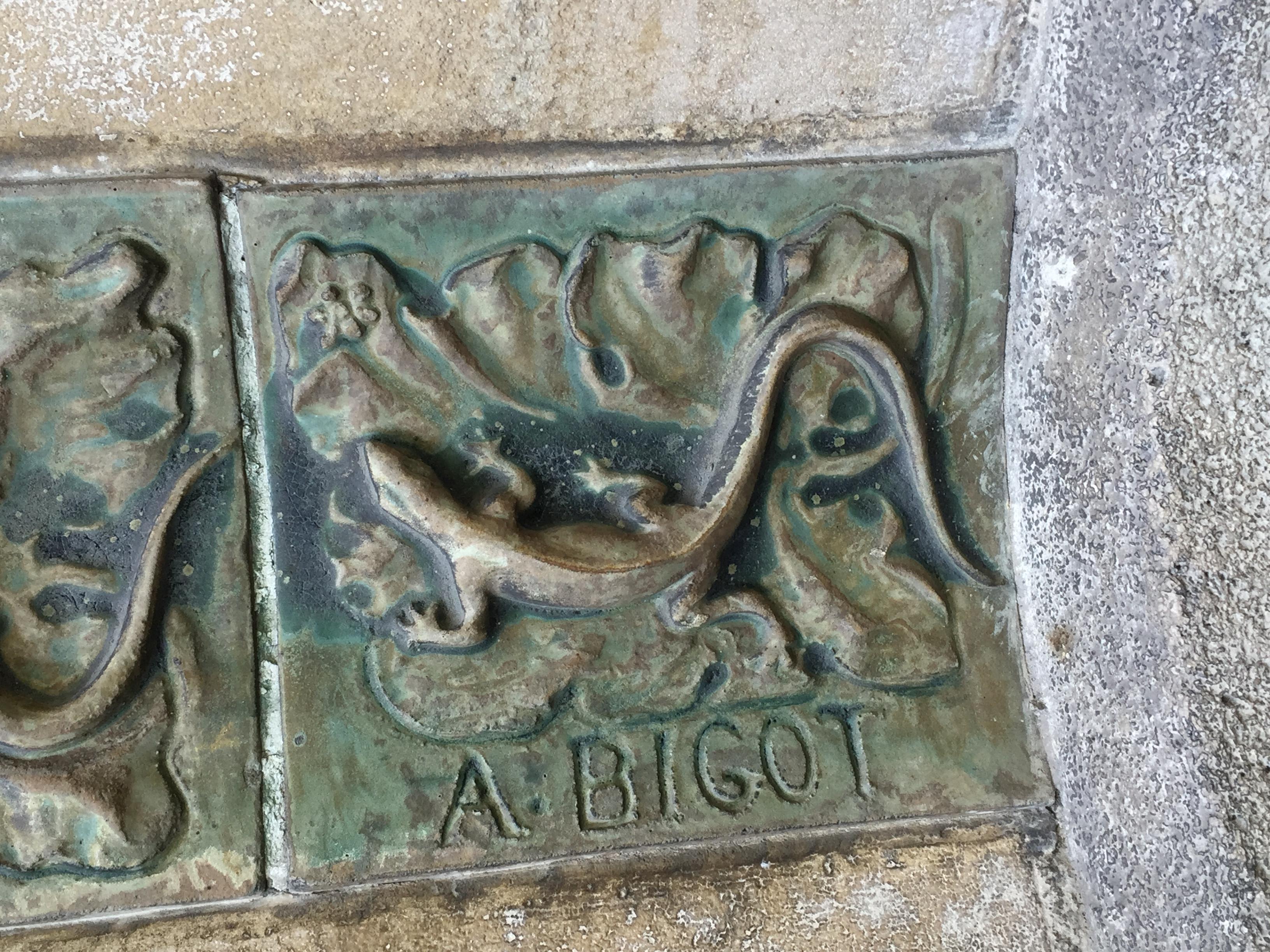 File:Alexandre Bigot ceramic tile detail - 2.jpg - Wikimedia Commons