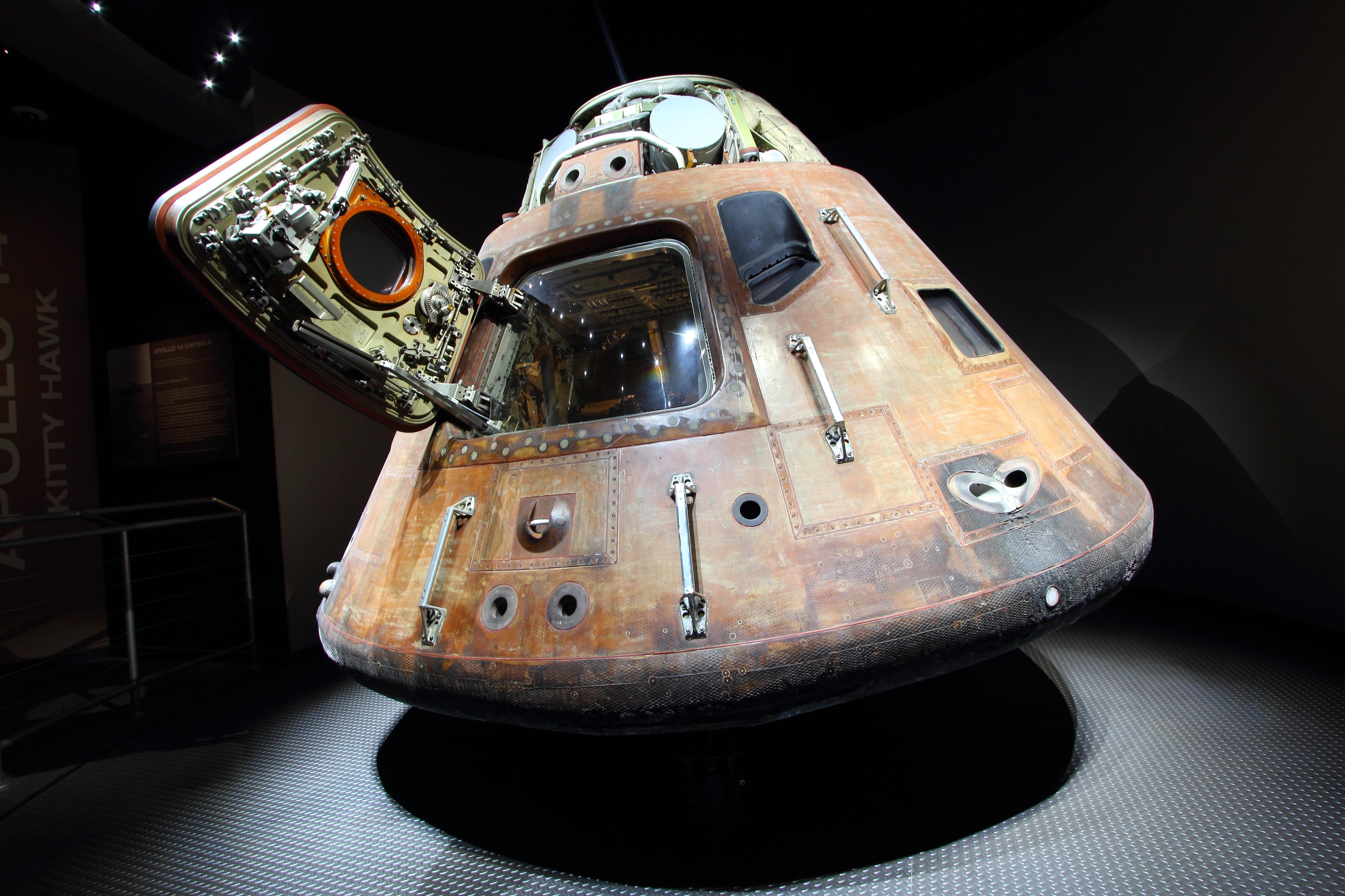 Apollo command module EVA handles post-reentry ...