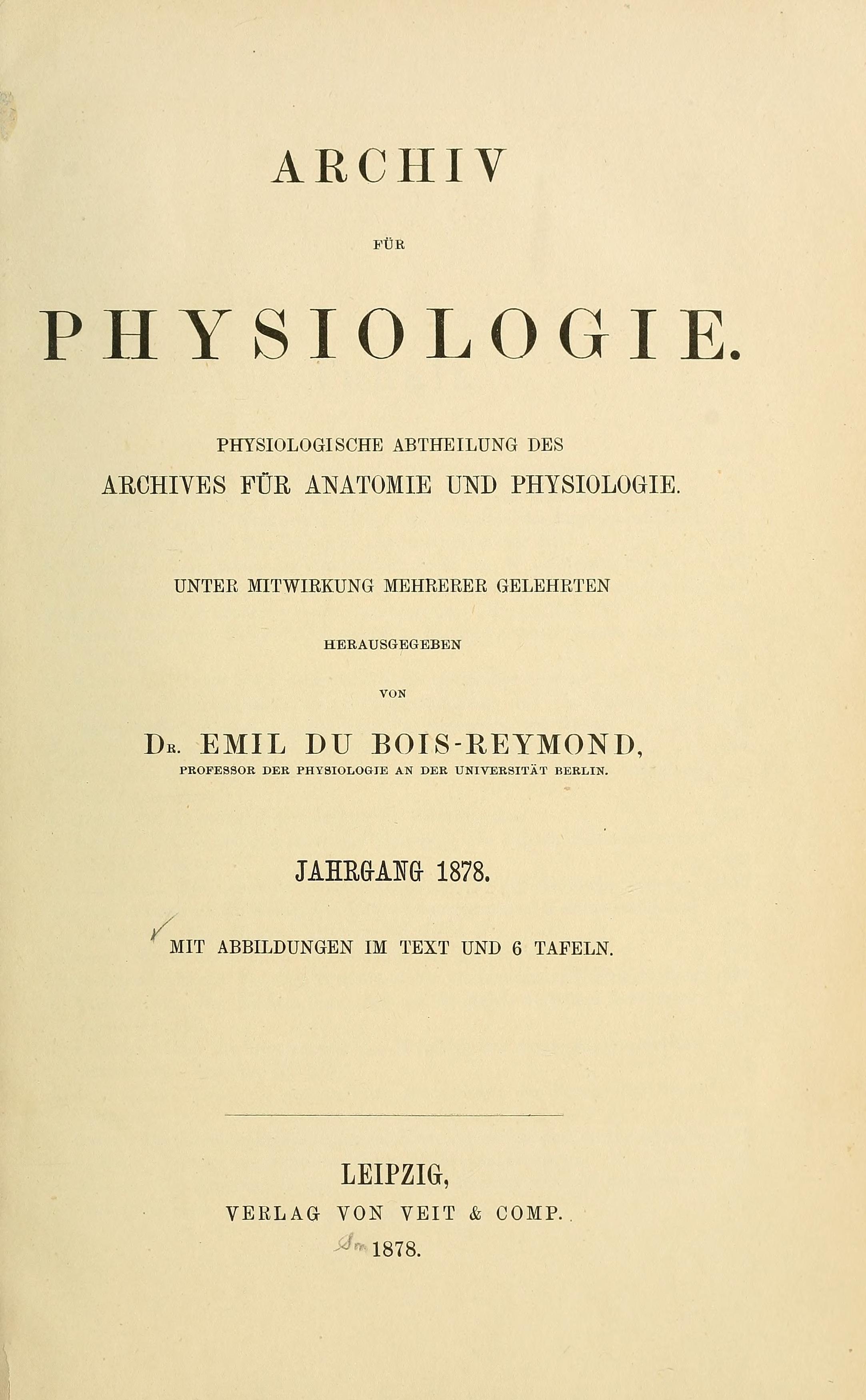 Archiv für Physiologie title page 1878.jpg