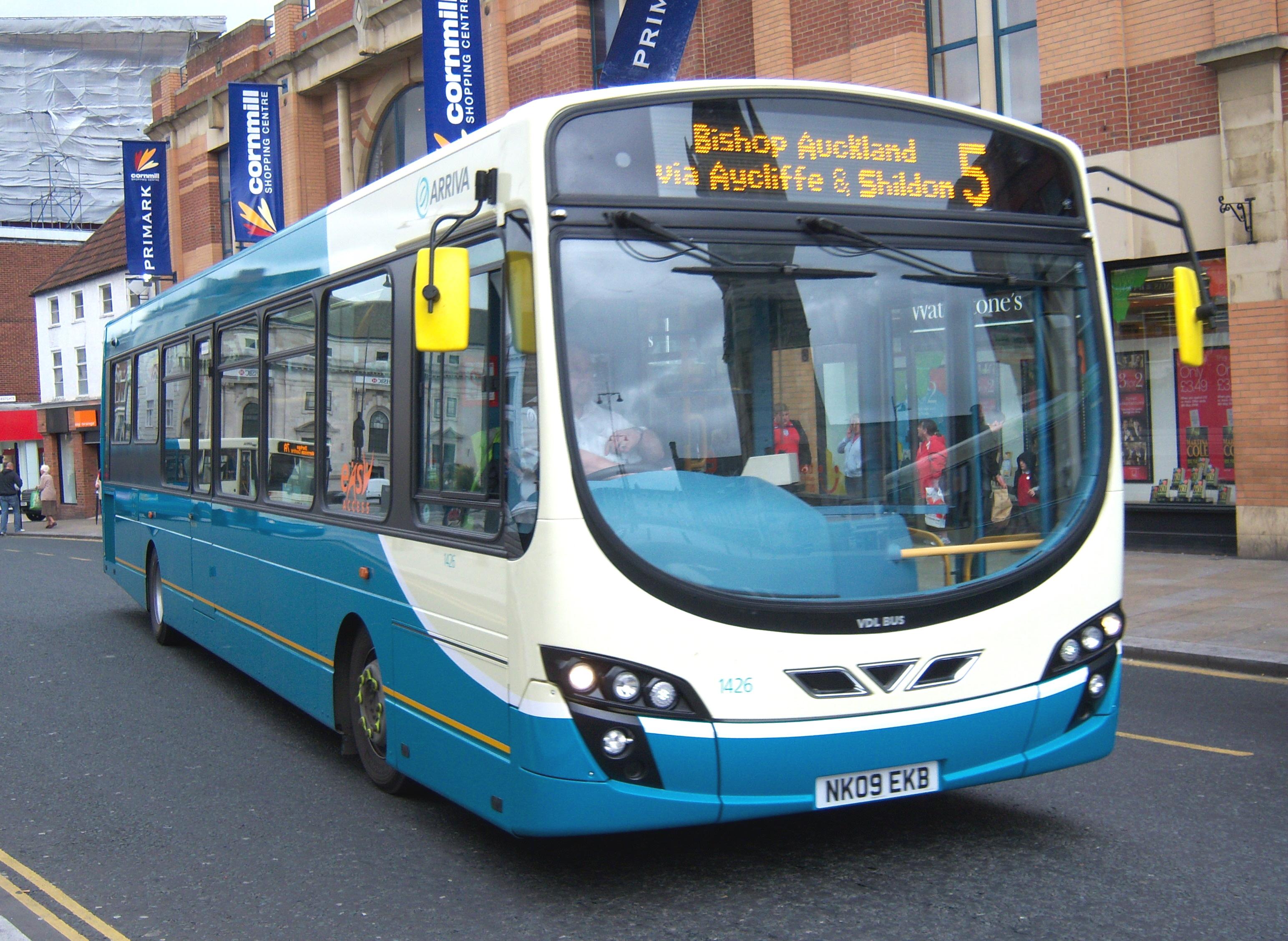 File:Arriva bus 1426 VDL SB200 Wrightbus Pulsar II NK09 EKB in Darlington 5  May