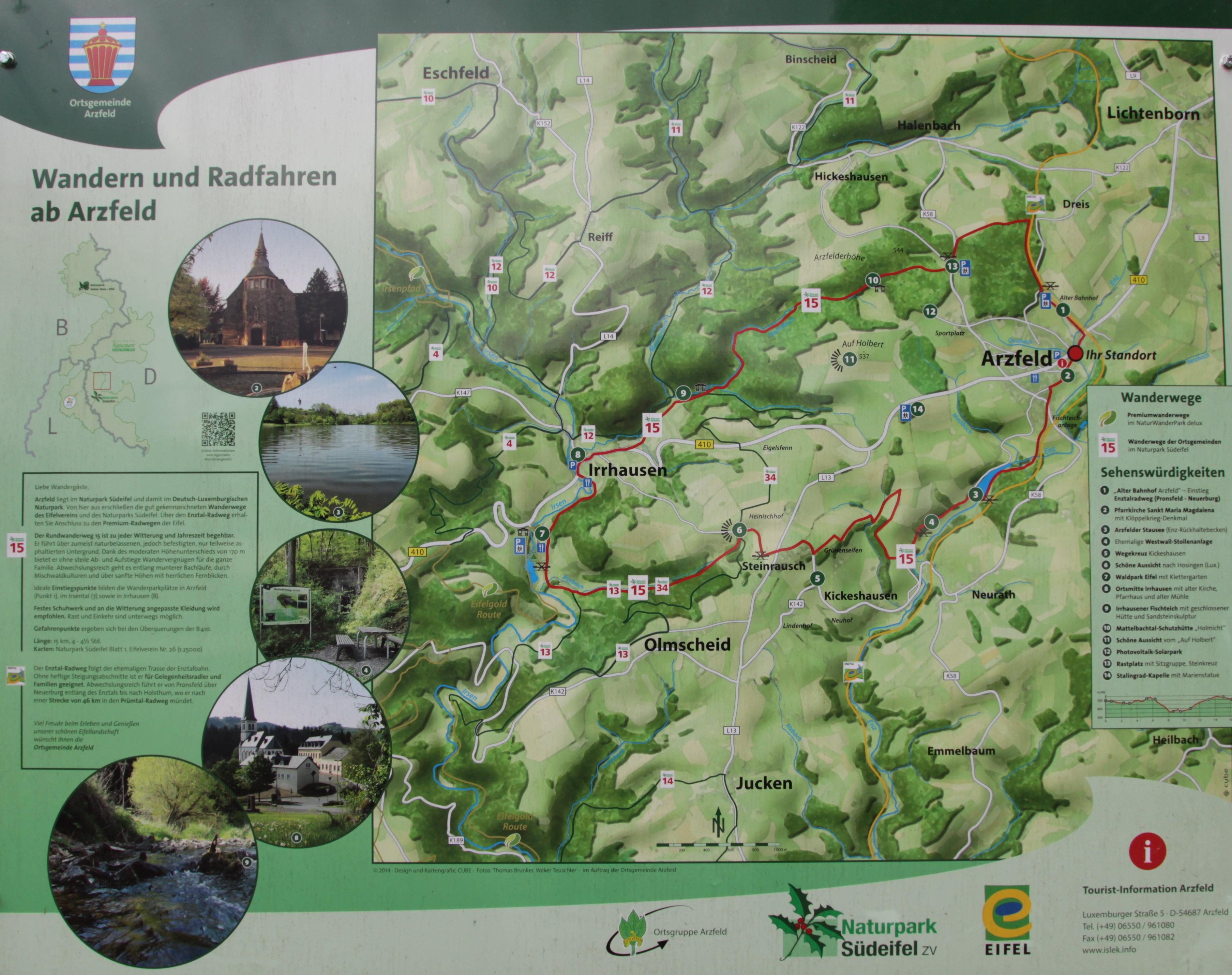 File Arzfeld Eifel Wanderkarte Radfahrkarte A Jpg Wikimedia