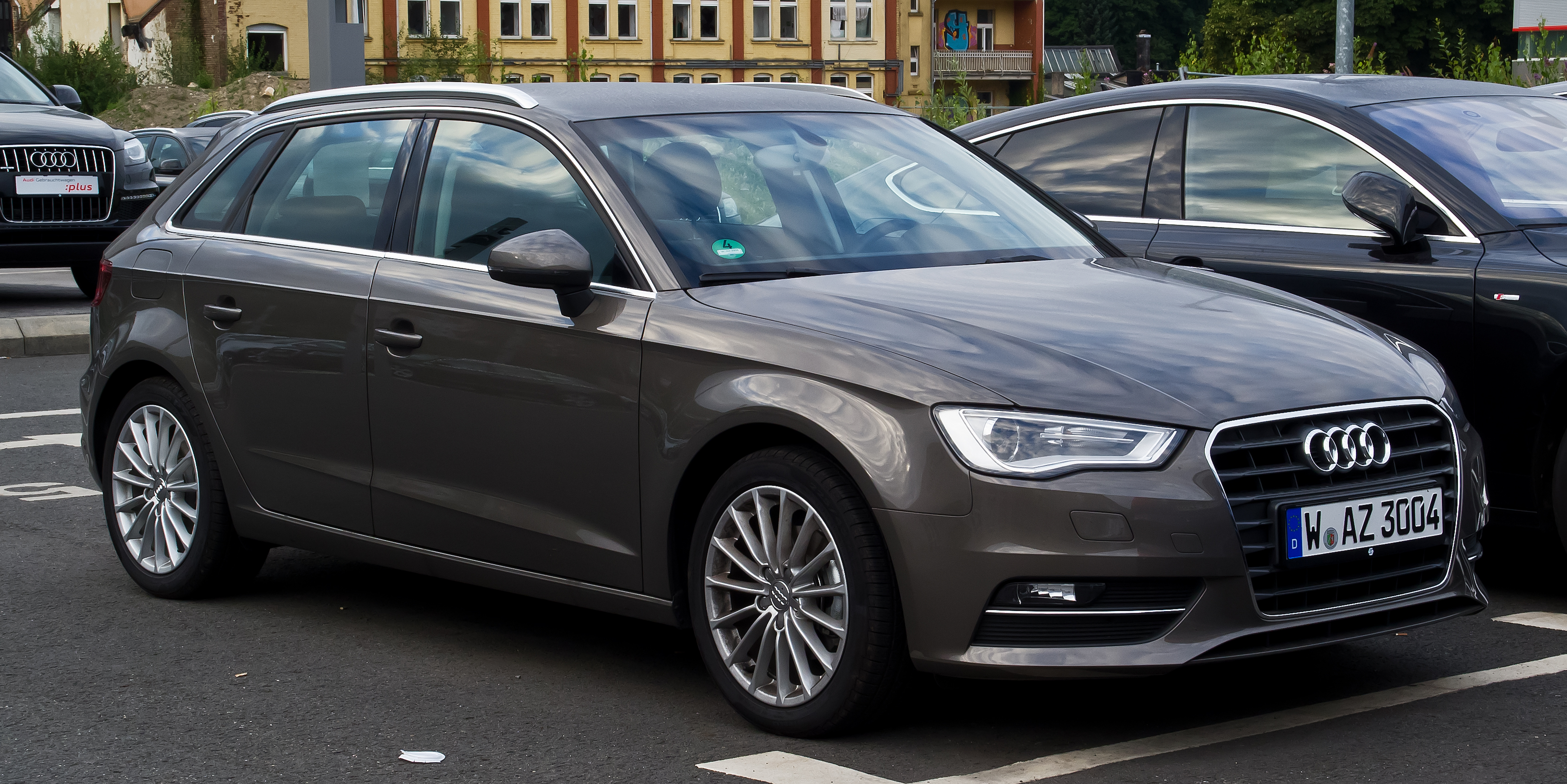 file audi a3 sportback 2 0 tdi ambition 8v frontansicht 11 august 2013. Black Bedroom Furniture Sets. Home Design Ideas