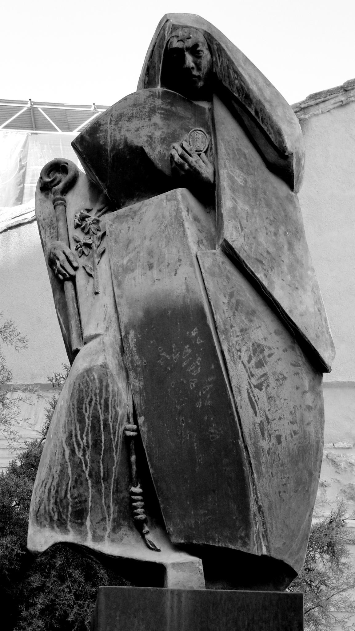 Statue av St. Beatrix da Silva i Toledo i Spania