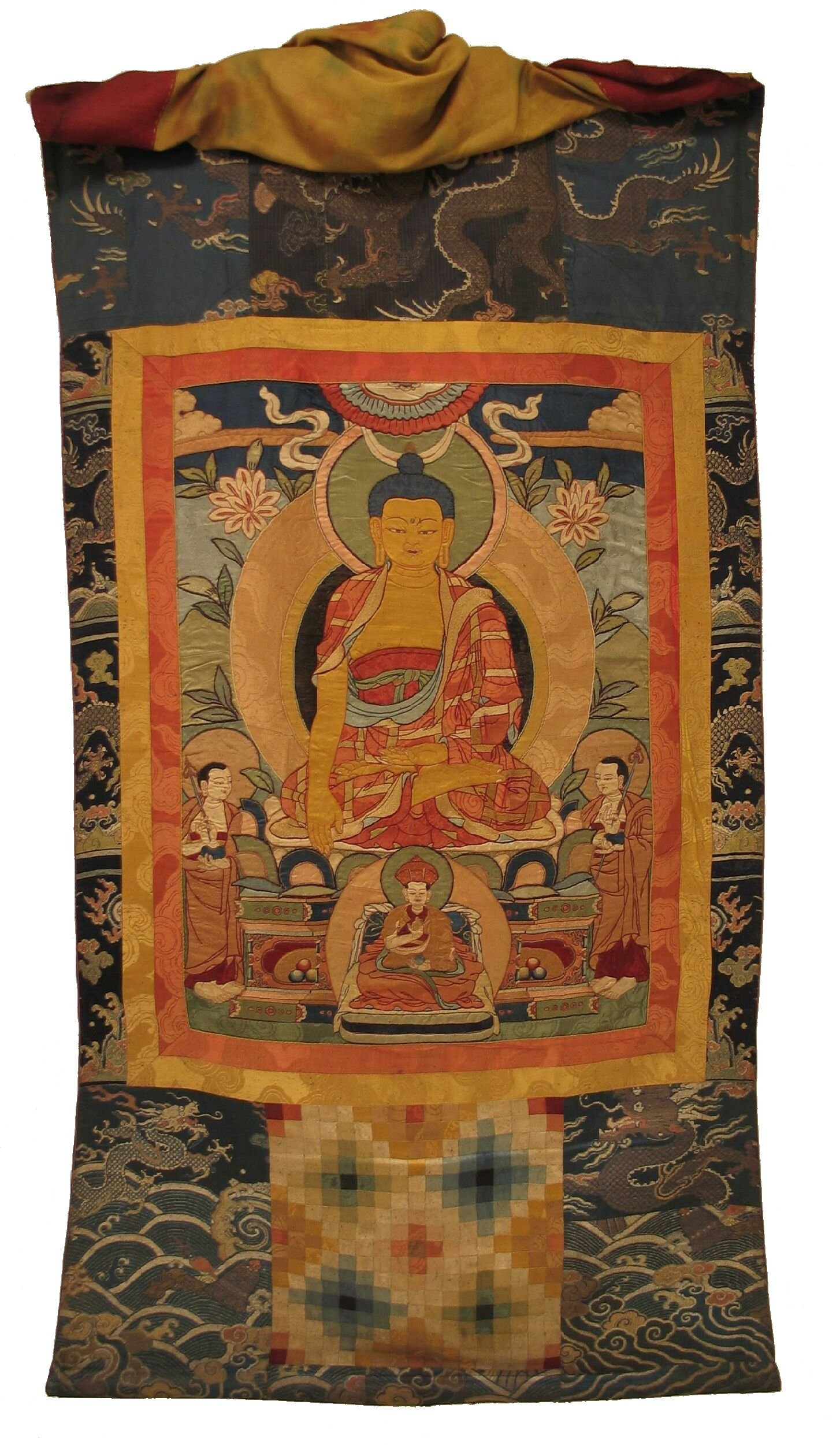 File Bhutanese Drukpa Applique Buddhist Lineage Thonka