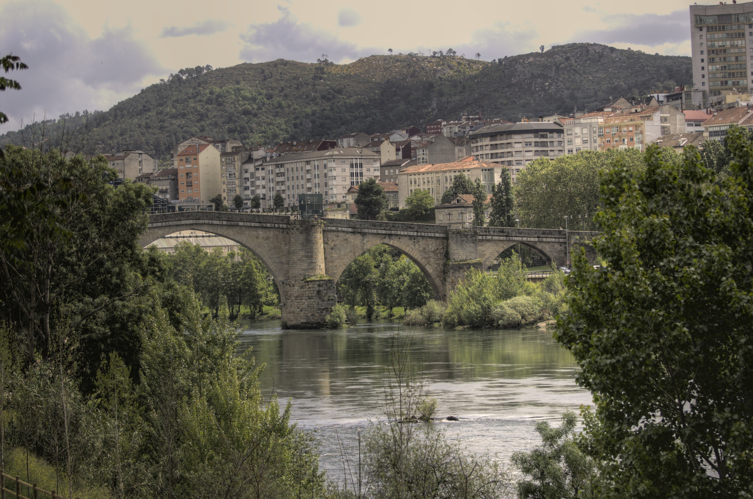 Ourense Spain  city photos gallery : Description Bridge, Ourense Spain , Minho River