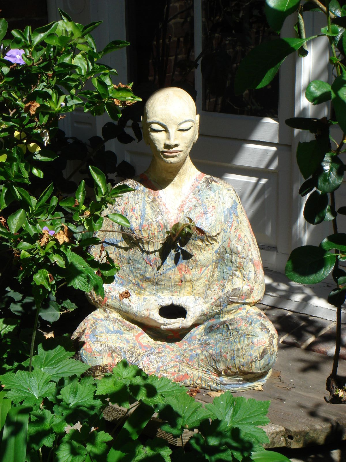 file buddha statue at san francisco zen wikimedia commons. Black Bedroom Furniture Sets. Home Design Ideas