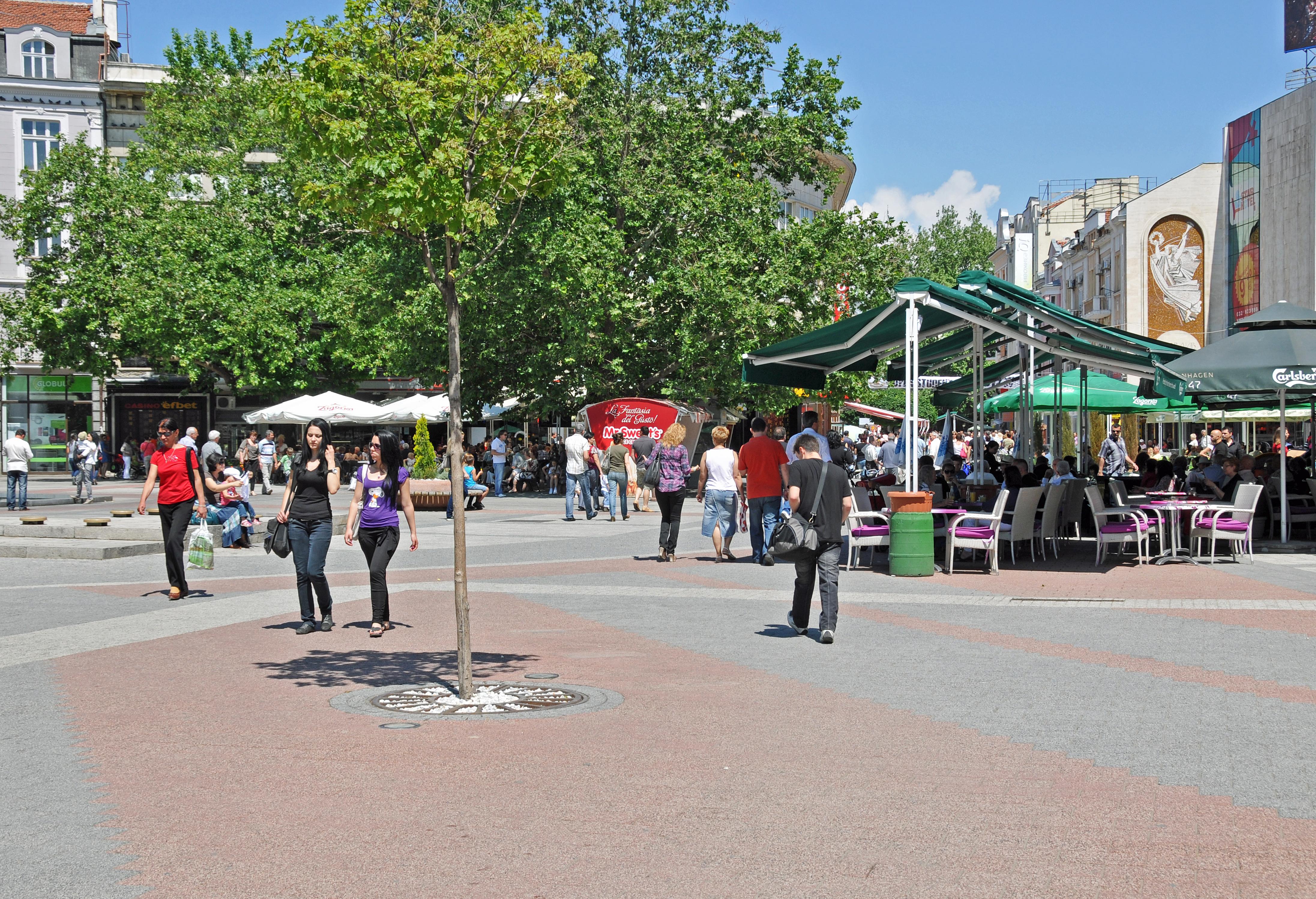 Plovdiv Bulgaria city center