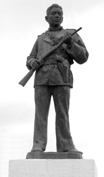 Statue of Cajeme erected in Ciudad Obregon, Sonora in 1985 CajemeStatue.jpg