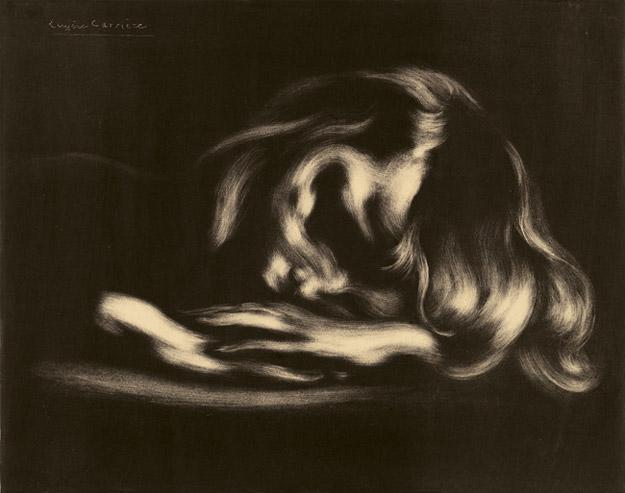 Eugène Carrière, Der Schlaf, Lithografie