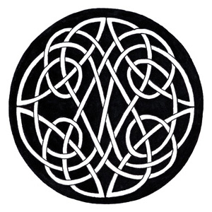 Celtic knot two-part circle vertical
