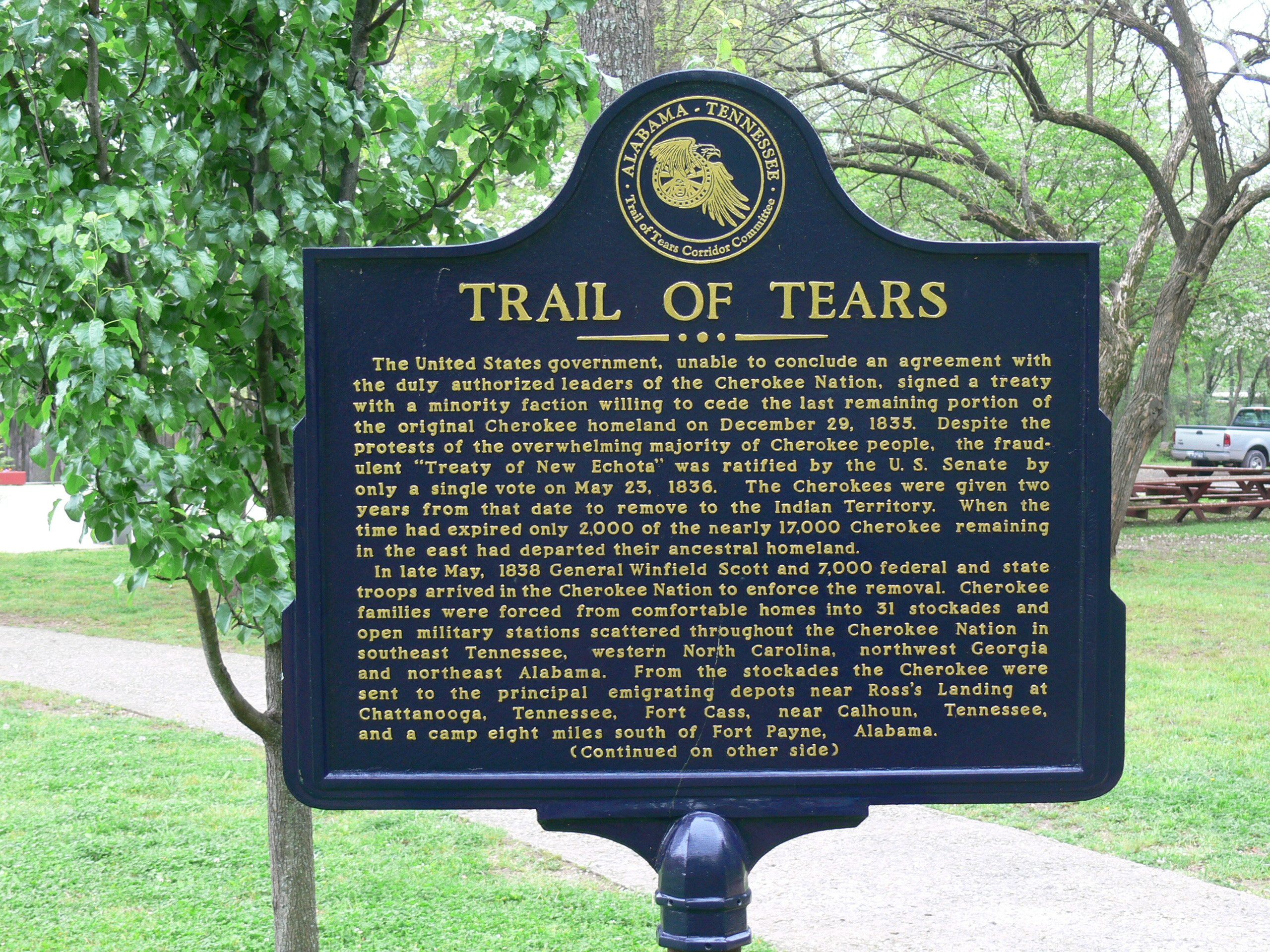 Cherokee_Heritage_Center_-_Trail_of_Tears_Schild_1.jpg (2560×1920)