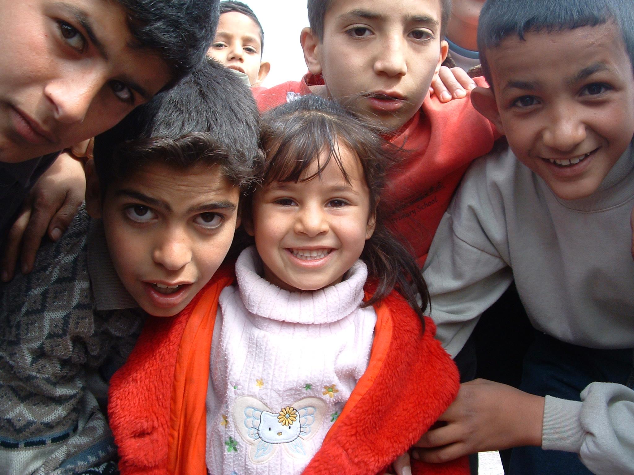 File:Children living next to Daurra Oil Refinery in Iraq.jpg