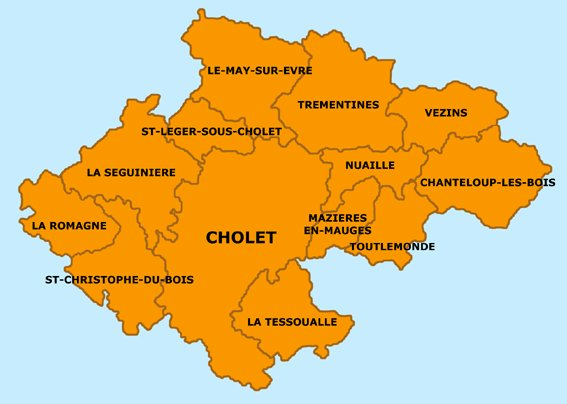 Agglomeration Community Of Cholet Wikipedia