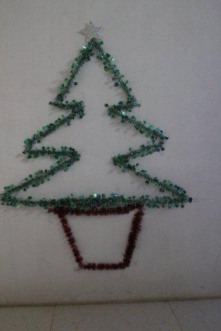 FileChristmas Tree Decoration On The Wall