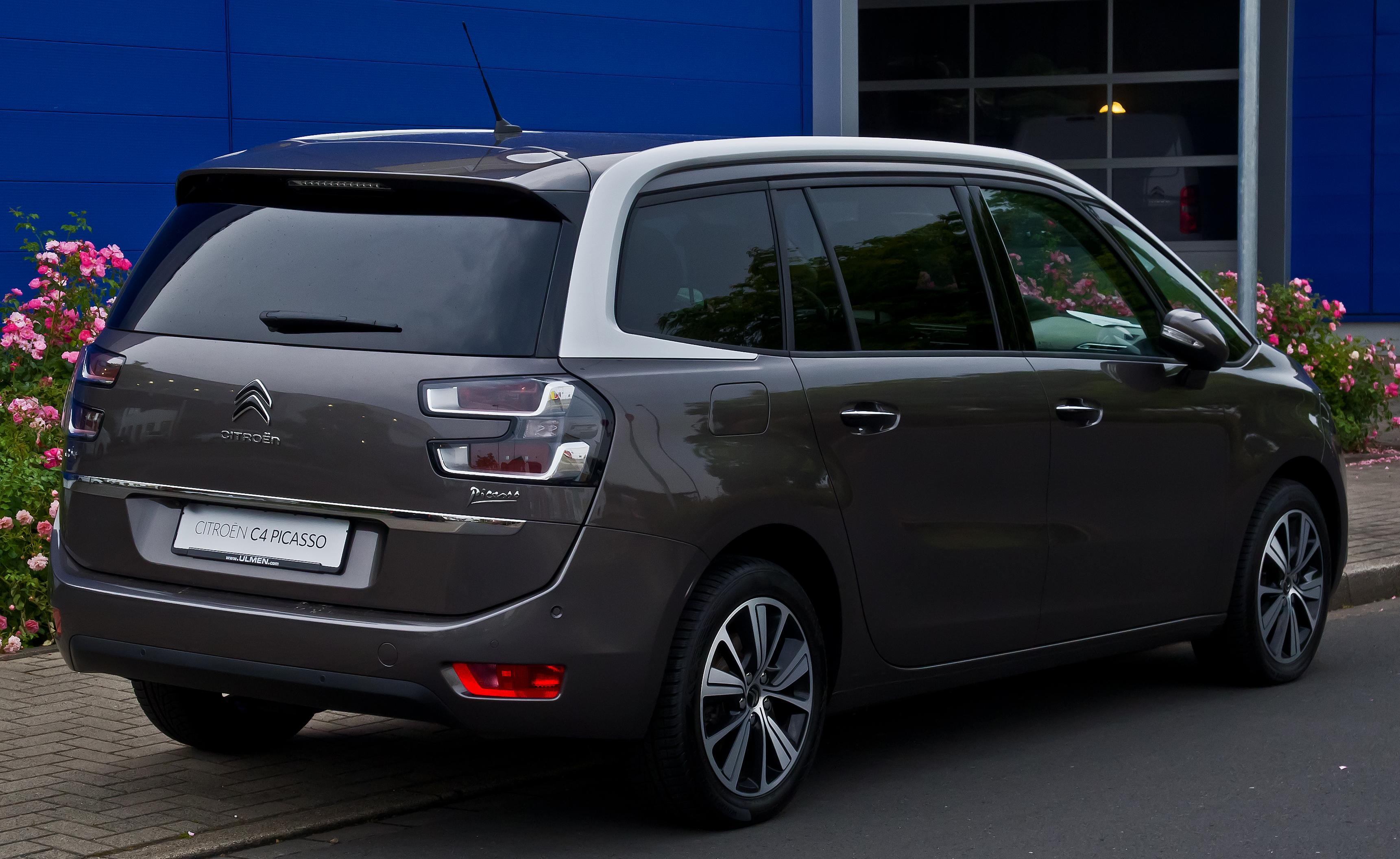 File:Citroën Grand C4 Picasso (II, Facelift) - Heckansicht ...