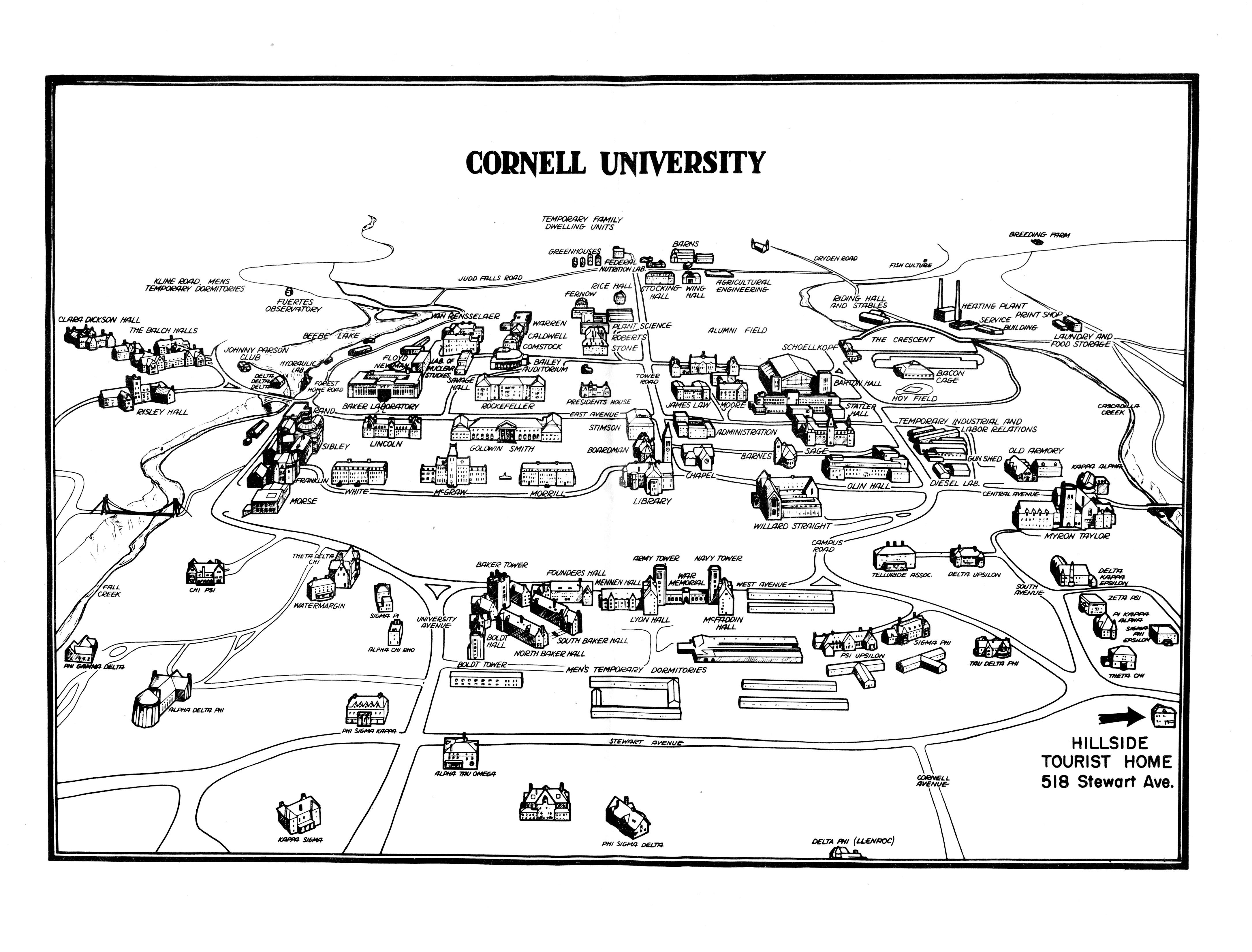 File:Cornell University campus map 1952.jpg - Wikimedia Commons