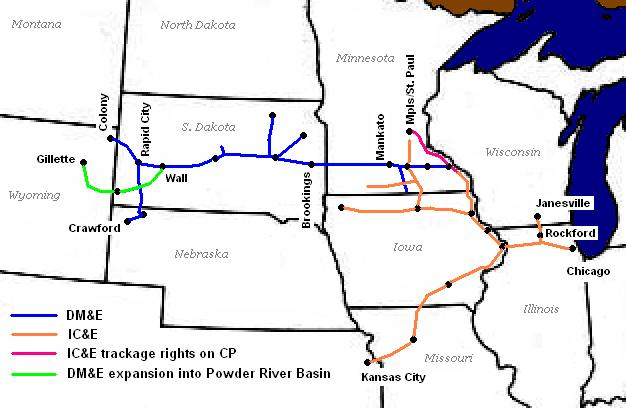 Iowa, Chicago and Eastern Railroad - Wikipedia on florida rail system map, bnsf map, vermont railway system map, florida east coast map, nebkota railway system map, iowa dot railroad map, alaska freight train routes map, belt railway of chicago system map, montana railroad map, nebraska kansas colorado railway system map, csx railroad map, nw railroad map,