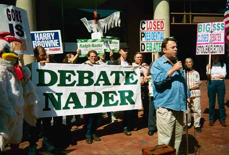 Debate Commission Protest Third Parties Bring Changes