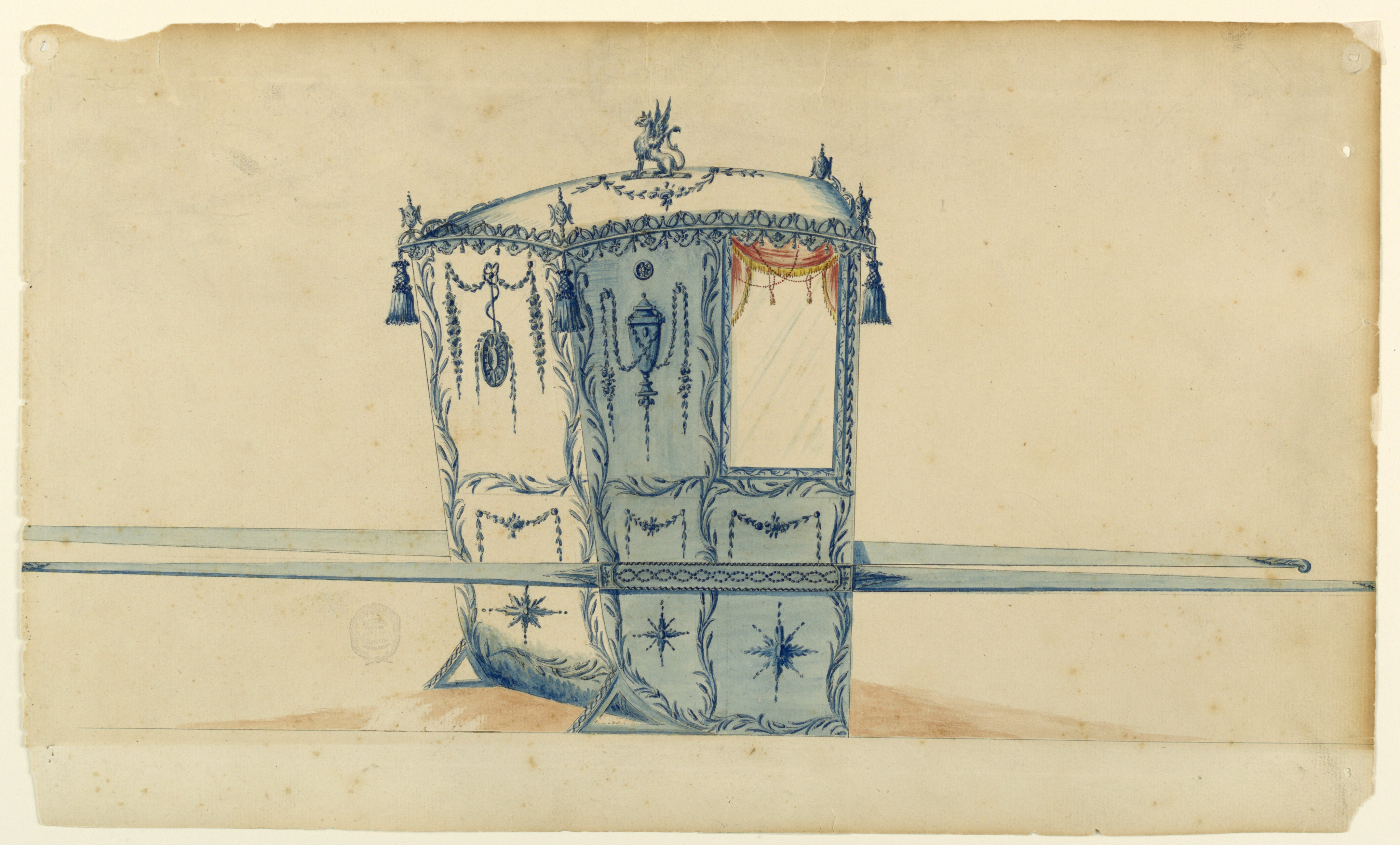 File Drawing Project For A Sedan Chair 1775 80 Ch 18105125 Jpg Wikimedia Commons