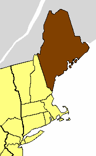 Location of the Diocese of Maine